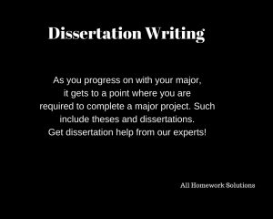 Why do you need dissertation writing help? The answer is simple. We offer dissertation writing services that take care of your theses and dissertations. Order our dissertation writing services.